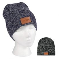 31242 - Knit Beanie with Leather Tag