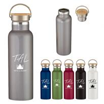 31233 - 21 oz. Stainless Steel Liberty Bottle w/ Wood Lid