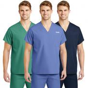 promotional cornerstone® reversible v-neck scrub top