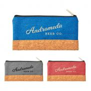 promotional heather pouch with cork combo