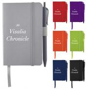 promotional hue soft pocket notebook with pen