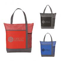 31349 - Chrome Non-Woven Zipper Convention Tote