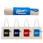 promotional 6 oz. cotton canvas packable snap tote