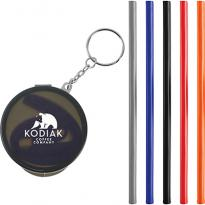 31397 - Reusable Silicone Straw Keychain