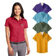 promotional port authority® ladies short sleeve easy care shirt
