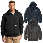 promotional carhartt paxton heavyweight hooded zip mock sweatshirt