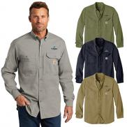 promotional carhartt force ridgefield solid long sleeve shirt