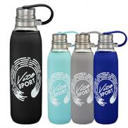 promotional 22 oz. oasis plastic free glass bottle