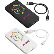 promotional flux 4000 mah powerbank with 2-in-1 cable
