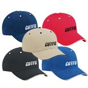promotional brushed cotton twill sandwich cap