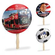 promotional papersplash 8 round hand fan