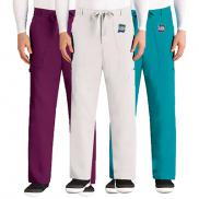 promotional barco greys anatomy™ classic mens zip fly drawstring pants