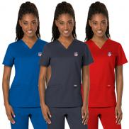 promotional cherokee workwear revolution womens v-neck top