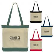 promotional color accent cotton tote