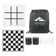 promotional oversized checkers with mat & carrying case