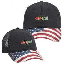 31986 - American Flag Soft Mesh Back Cotton Twill Baseball Cap
