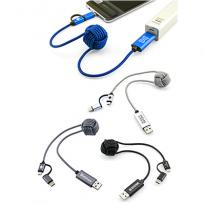 32092 - Knotted 3 in 1 Braided Charging Cable