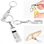 promotional phone holder and bottle opener keychain