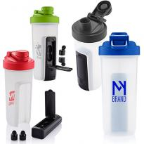 32327 - 20 oz. Shaker Fitness Bottle with Wireless Earbuds