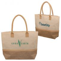 32331 - Wanderlust Laminated Jute & Canvas Tote