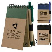 promotional arcata recycled jotter notepad notebook w/pen