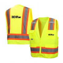 32403 - Hi Vis Lime Class 2 Surveyor Zipper Vest