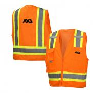 promotional hi vis orange class 2 surveyor zipper vest