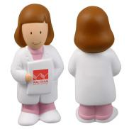 promotional female physician stress reliever