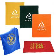 promotional hemmed cotton rally towel