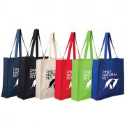promotional 11.5 oz. cotton canvas grocery tote