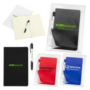 promotional notebook set in zip pouch