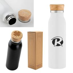 20 oz. Treez Stainless Steel Tumbler with Wood Lid