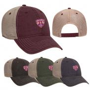 promotional 6 panel low profile soft polyester mesh back baseball cap