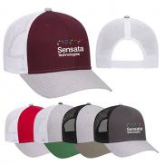 promotional 6 panel low profile mesh back trucker cap