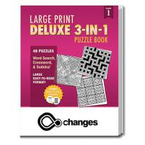 32890 - Large Print Deluxe 3-in-1 Puzzle Book - Vol. 1