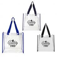 promotional basic clear open tote
