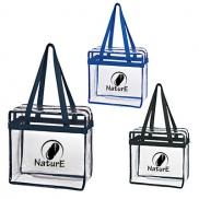 promotional basic clear zipper tote