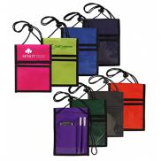 promotional multi-pocket badge holder/passport pouch