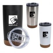 promotional 20 oz. cork stainless steel tumbler