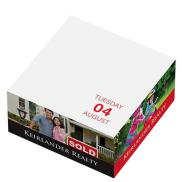 promotional full color post-it® custom printed notes calendar cubes
