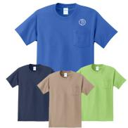 promotional port & company® - essential pocket tee (color)