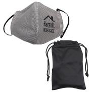 promotional microfiber cooling mask with travel pouch