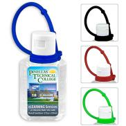 promotional 2 oz. hand sanitizer with leash - full color