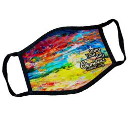 Dye Sublimated Mask with Antimicrobial Pouch