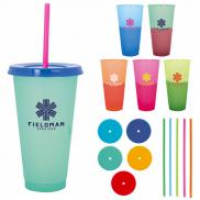 promotional 24 oz. ronnie color changing tumbler