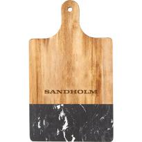 33585 - Black Marble and Wood Cutting Board
