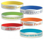 promotional silver silicone bracelets