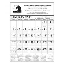 promotional black & white memo calendar