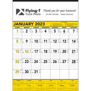promotional yellow & black contractors calendar