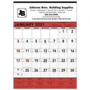 promotional red & black memo calendar